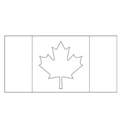 flag of canada 2009 vintage vector image