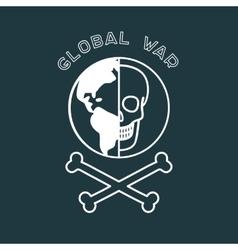Global War Poster vector image vector image