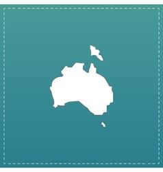 High map - Australia vector image vector image
