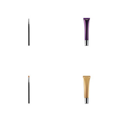 realistic cosmetic stick collagen tube brow vector image