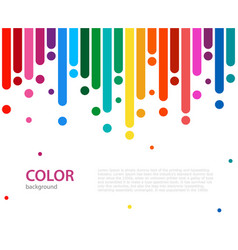 Abstract colorful rainbow rain color lines with vector