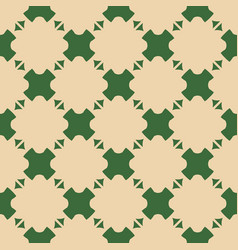 Abstract geometric seamless pattern with crosses vector