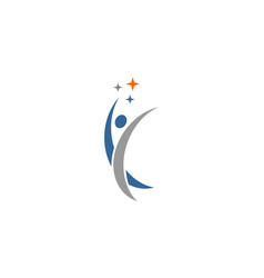 active human logo vector image