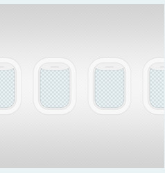 aircraft windows seamless background vector image