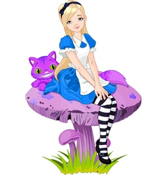 Alice in wonderland vector