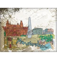 Amsterdam doodles vector