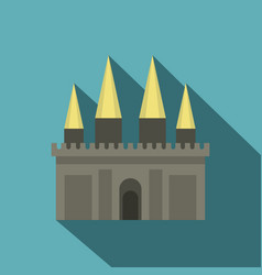 Ancient castle palace icon flat style vector