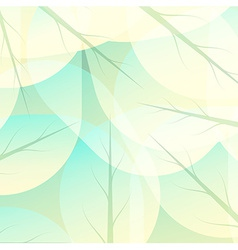 Autumn background of green leaves vector image