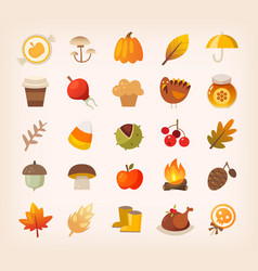 autumn signs and symbols vector image