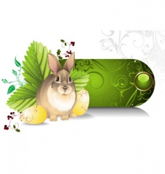 banner with an easter rabbit vector image vector image