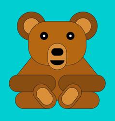 bear in cartoon flat style vector image