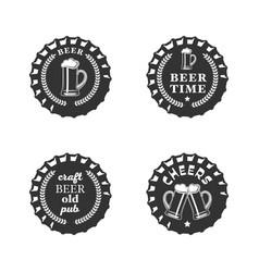 beer emblem set vector image