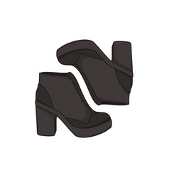black ankle boots fashion style item vector image