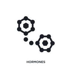 black hormones isolated icon simple element from vector image