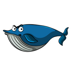 blue whale with serious face vector image