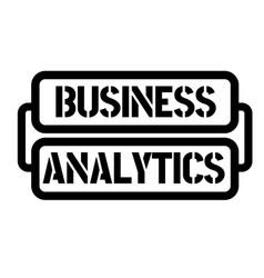 Business analytics stamp vector