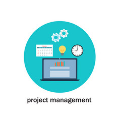 business project management icon vector image