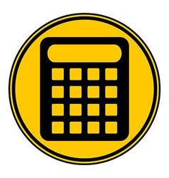 Calculator symbol button vector