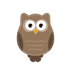 Cartoon owlet vector image