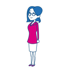 cartoon woman medical professional standing vector image