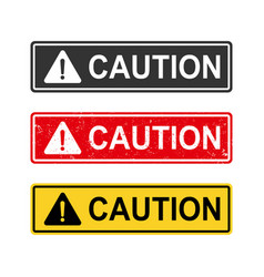 caution sign set vector image