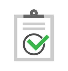 Checklist confirm icon vector