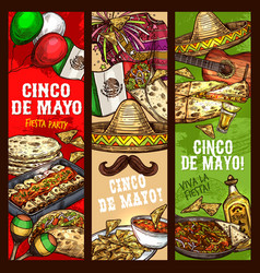 cinco de mayo fiesta mexican holiday celebration vector image