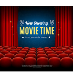 Cinema movie time background card vector