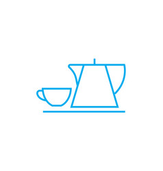 coffee break linear icon concept coffee break vector image