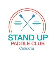 Colorful logo template for stand up paddling vector