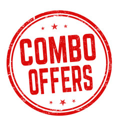 combo offers sign or stamp vector image