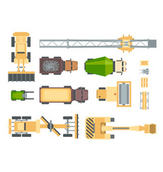 Construction machines - set of modern vector