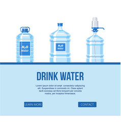 drink water in plastic bottle set on white vector image