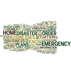 Emergency plans are important for your home and vector