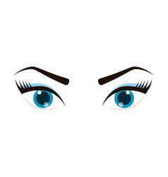 female eye icon vector image