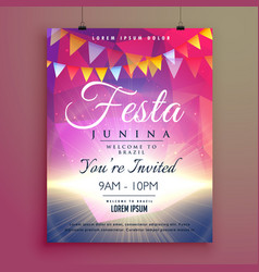 Festa junina invitation poster design vector