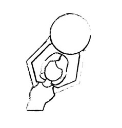 figure healthy woman doing exercise with ball vector image