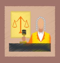 Flat shading style icon jurisdiction judge vector