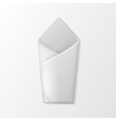 Folded Envelope Napkin Top View Table Setting vector