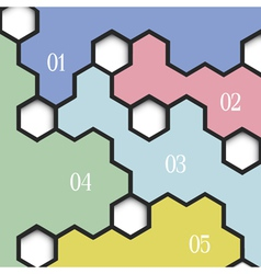 Geometric background with hexagons for vector image