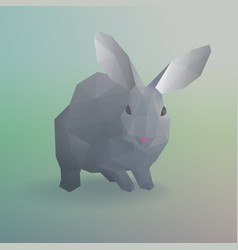 geometric gray rabbit or bunny concept vector image