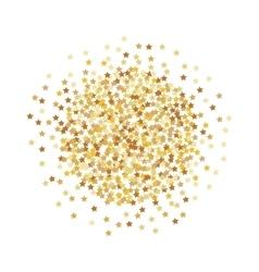 Gold stars confetti vector