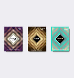 golden geometric cover design banners vector image
