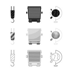 Goods and cargo sign set vector