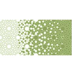Green mosque mosaic star flower seamless vector