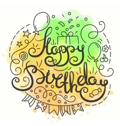 Happy Birthday Typography Design Letering card vector