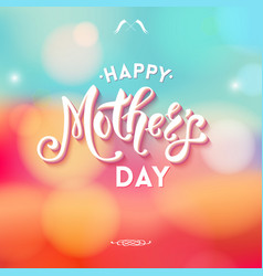 happy mothers day with little decorations vector image