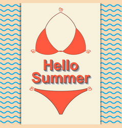 Hello summer travel the trend calligraphy vector