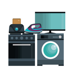 home appliances tech icon vector image