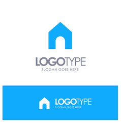 Home instagram interface blue solid logo with vector